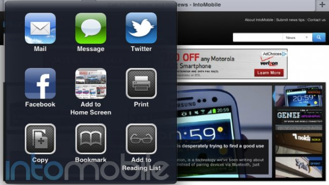 iOS 6 sharing header