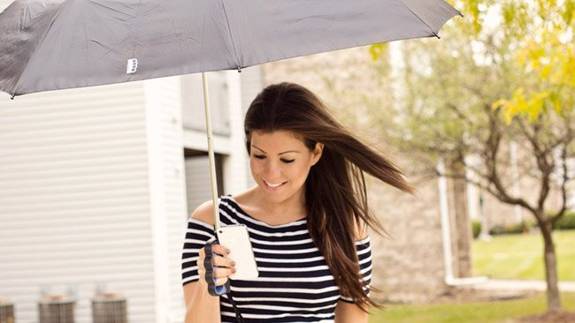Brolly is a texting friendly umbrella