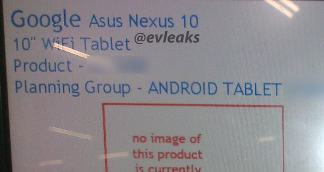 Asus-made Nexus 10 coming soon?