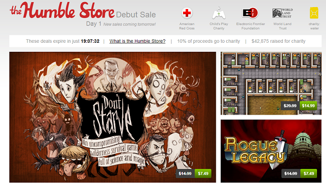 The Humble Store  Great games. Fantastic prices. Support charity.