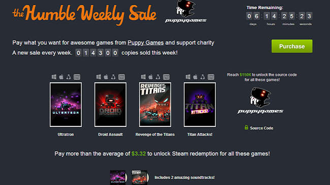 Humble Weekly Sale  Puppy Games  pay what you want and help charity