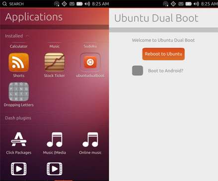Ubuntu and Android dual boot developer preview