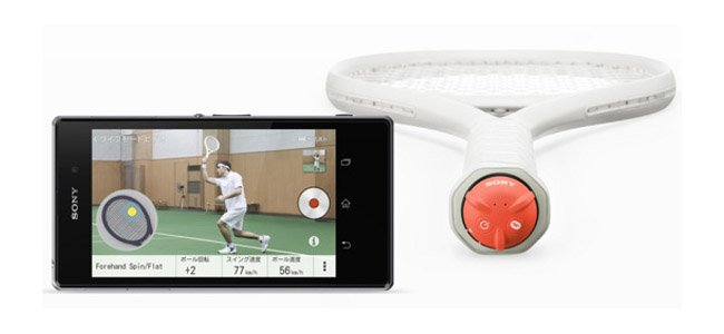 Sony Smart Tennis Sensor allows you to track racket swings on your smartphone