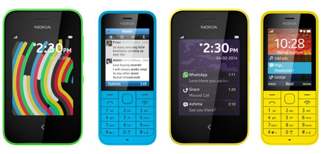 Nokia 220 and Nokia Asha 230 feature phones unveiled