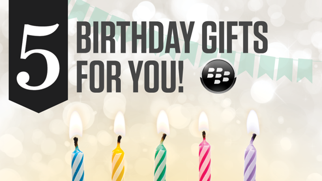 Free BlackBerry apps offered to celebrate 5th anniversary of BlackBerry World