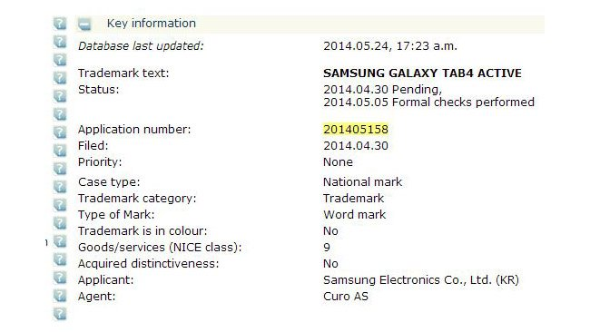 Samsung working on a waterproof tablet?