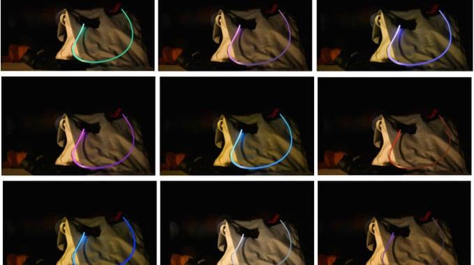 Shine laser light Bluetooth headphones