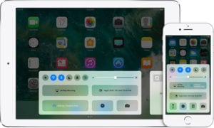 iPad / iPhone Control Center